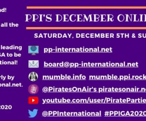 This week's schedule includes our board meeting and Pirate Beer right before this weekend's General Assembly!  Everything you need to know about PPI's December Online General Assembly.